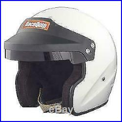 Racequip Open Face Helmet Hans Ready -snell Sa 2015 Orci Approved