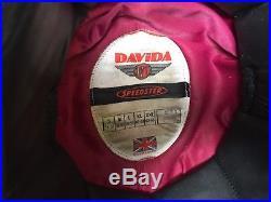 Rare, Vintage Davida Speedster Matt Black Open-face helmet Size 54-55cm