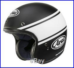 Retro Arai Freeway Classic Bandage Black Open Half Face Motorcyle Helmet