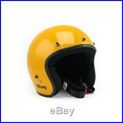 Roeg Jett Open Face Motorcycle Helmet Yellow