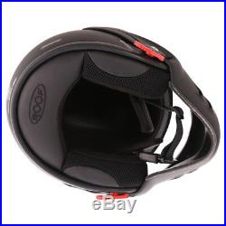 Roof Boxer V8 Jet Motorcycle Helmet Motorbike Jet Dual Open Face Matt Black J&S