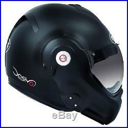 Roof Desmo Matt Black Flip Full Face Open Face Custom Motorcycle Helmet T