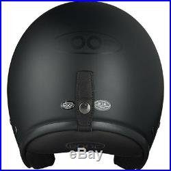 Roof Vintage Motorcycle Motorbike Open Face Helmet Matt Black