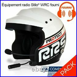Rrs Jet Open Face Helmet With Hans & Stilo Wrc Micro Intercom, Fia, Rally, Race