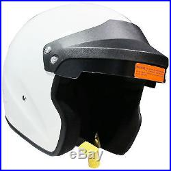 SA2015 Motorsport Open Face Crash Helmet With Hans Posts Receivers White