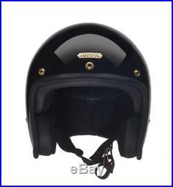 SALE! Hedon Hedonist Motorcycle Motorbike Bike Helmet Open Face Signature Black