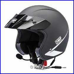 SC607I OMP STAR-J Open Face Helmet with Intercom Kit Race Rally Track Motorsport