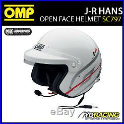 SC797 OMP J-R Rally Helmet Hans Intercom Casco Jet Open Face Race FIA 8859-2015