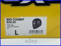SCORPION EXO-COMBAT SOLID HELMET FULL/OPEN FACE HELMET MATT BLACK BLK2 Large
