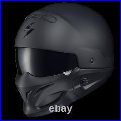 SCORPION EXO COVERT OPEN-FACE Helmet Matt Black On-Road Street Motorcycle