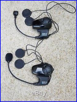 SENA SMH10 Bluetooth Headset/Intercom for Open-Face/Flip-up Helmet (Dual Pack)