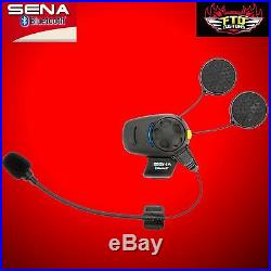 SENA SMH5-FM-UNIV Full & Open Face Helmet Motorcycle Bluetooth Headset Intercom