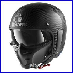 SHARK OPEN FACE Helmet S-DRAK Carbon Skin DSK Modular Goggles ATV EX-DISPLAY