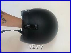 SHOEI Helmet Black Matte Open Face dvs with YELLOW visor. Pristine conditions