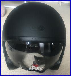 SHOEI JO Open Face Helmet Matt Black Size M 57-58cm. Motorcycle, Scooter, MOD