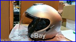 SHOEI J-CRUISE MOTORCYCLE HELMET LIGHT Silver Large OPEN FACE