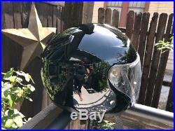 SHOEI J-CRUISE OPEN-FACE MOTORCYCLE HELMET SOLID BLACK X-LARGE XL Radio Headset