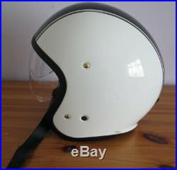 SHOEI J. O Carburettor Open Face Motorcycle Helmet & Visor Retro Motorbike Helmet