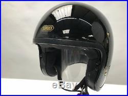 SHOEI J-O JO MOTORCYCLE HELMET Black Large OPEN FACE CRUISER SCOOTER