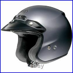SHOEI RJ Platinum Pearl Gray Open face Motorcycle Helmet Medium