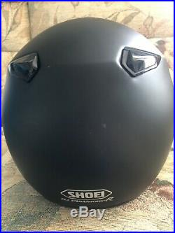 SHOEI RJ Platinum R. Mat Black, Size XL. Light Use. Open Face Motorcycle Helmet