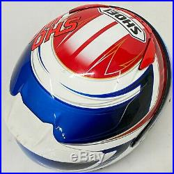 SHOEI Z-7 Valkyrie Open Face Helmet Red/Blue/White Size L 59cm Japan HJ