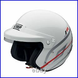 Sale! SC796 OMP Open Face Helmet J-R Jet FIA 8859-2015 Race Rally Track Circuit