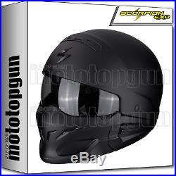 Scorpion 82-100-10 Motorbike Helmet Open Face Exo-combat Solid Matt Black M