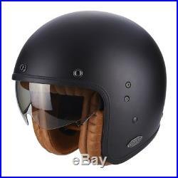 Scorpion Belfast Matte Black Luxe Open Face Motorcycle Helmet