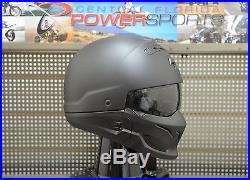 Scorpion COVERT 3 in 1 Full Face 3/4 Open Face Road Helmet Matte Black Size XL