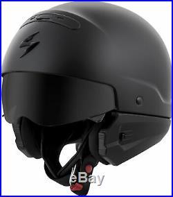 Scorpion COVERT Open-Face Motorcycle Helmet (Matte Black) M (Medium)