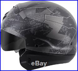 Scorpion COVERT RATNIK Open-Face Motorcycle Helmet (Phantom Black) L (Large)