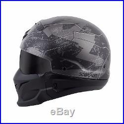 Scorpion COVERT RATNIK Phantom 3 in 1 Full Face 3/4 Open Face Road Helmet 2XL