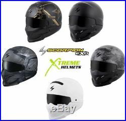 Scorpion Covert Helmet Convertible 3-in-1 Half Open Full Face DOT XS-3XL