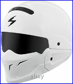 Scorpion Covert Open-Face Solid Helmet L Gloss White COV-0205