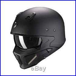 Scorpion Covert X Open Face Motorbike Motorcycle Helmet Matt Black