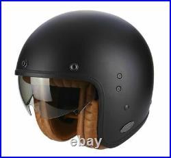 Scorpion EXO Belfast Luxe Matt Black Classic Open Face Motorcycle Helmet