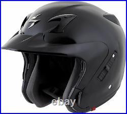 Scorpion EXO-CT220 Open-Face Motorcycle Helmet (Gloss Black) XL (X-Large)