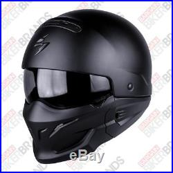 Scorpion EXO Combat Aggressive Open Face Motorcycle Cruiser Helmet Matt Black