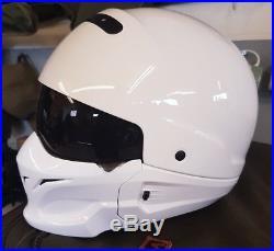 Scorpion EXO Combat Open Face Motorcycle Helmet white