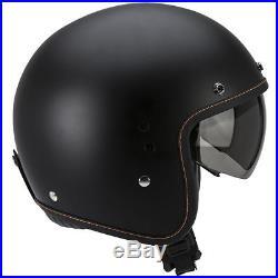 Scorpion Exo Belfast Matt Black Open Face Motorcycle Motorbike Helmet