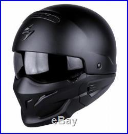 Scorpion Exo Combat Full or Open Face Street Fighter Motorcycle Helmet