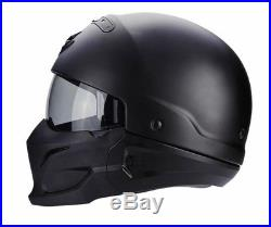Scorpion Exo Combat Open Face Motorcycle Unisex HelmetCrossover +JetMatt Black