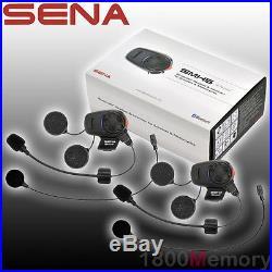 Sena SMH5 Dual Full & Open Face Helmet Motorcycle Bluetooth Headset Intercom Kit
