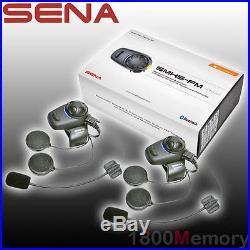 Sena SMH5 Dual Open Face Helmet FM Radio Motorcycle Bluetooth Headset Intercom