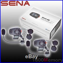 Sena SMH5 Dual Open Face Helmet Motorcycle Bluetooth Headset Intercom Kit USB