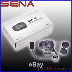 Sena SMH5 Single Open Face Helmet Motorcycle Bluetooth Headset Intercom Kit USB