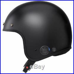 Sena Savage Intercom Bluetooth Open Face Motorcycle Motorbike Helmet Matt Black