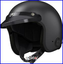Sena Savage Matte Black Open Face helmet with bluetooth and speakers built in