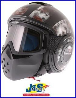 Shark Drak Dogtag KUK Jet Open Face Motorcycle Helmet Motorbike Convertible J&S